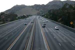 Mesa, AZ – Car Accident Blocking Lane on Red Mtn Freeway